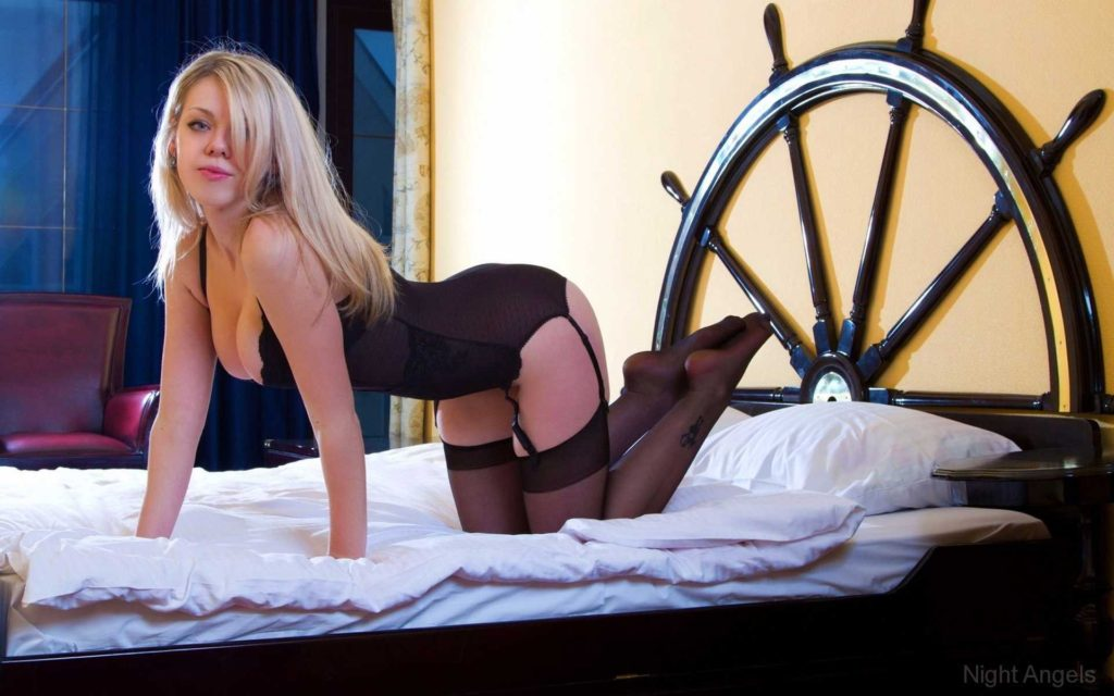 Hot blonde in bed via Surrey escorts